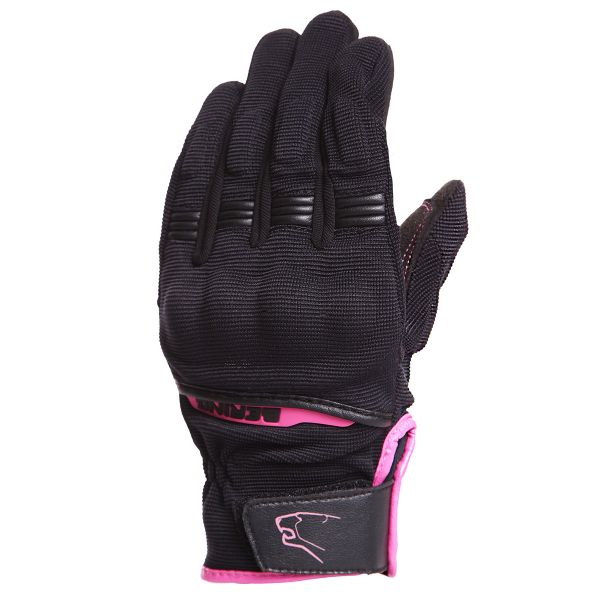 Gants Moto Bering Lady Fletcher Black Fushia