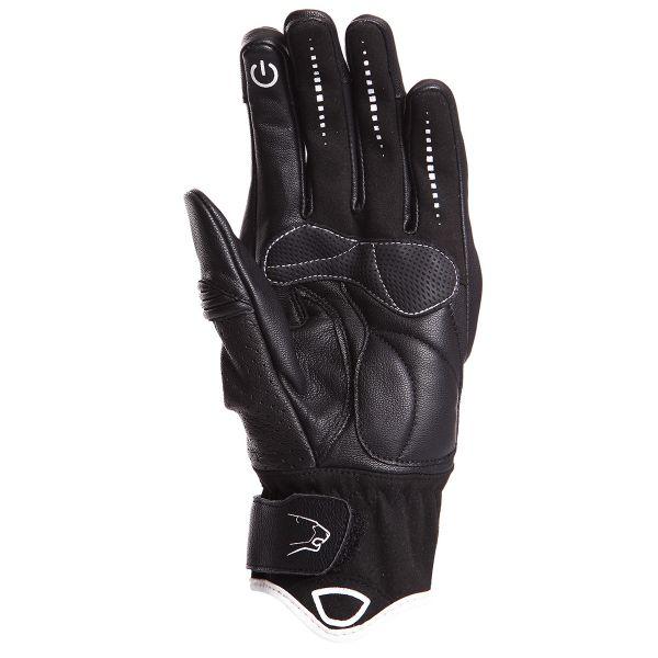 gants moto bering lady mezia black white au meilleur prix. Black Bedroom Furniture Sets. Home Design Ideas