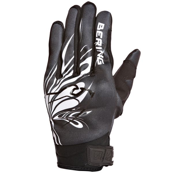 Gants Moto Bering Lady Roberta Black White