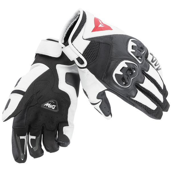 Gants Moto Dainese Mig C2 Black White