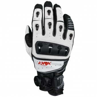 Gants Moto Knox Orsa Leather White
