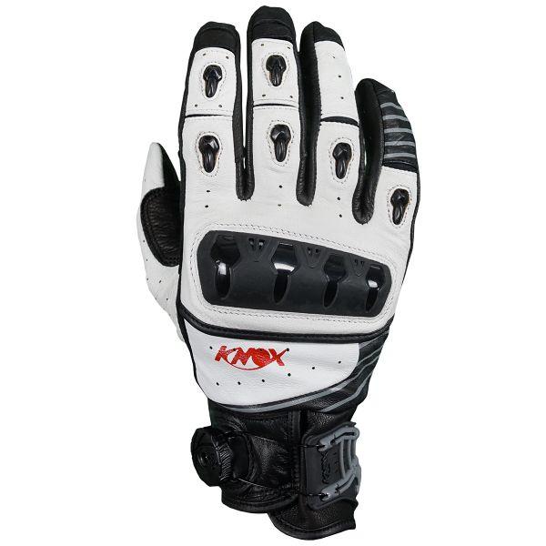 Gants Moto Knox Orsa Leather White