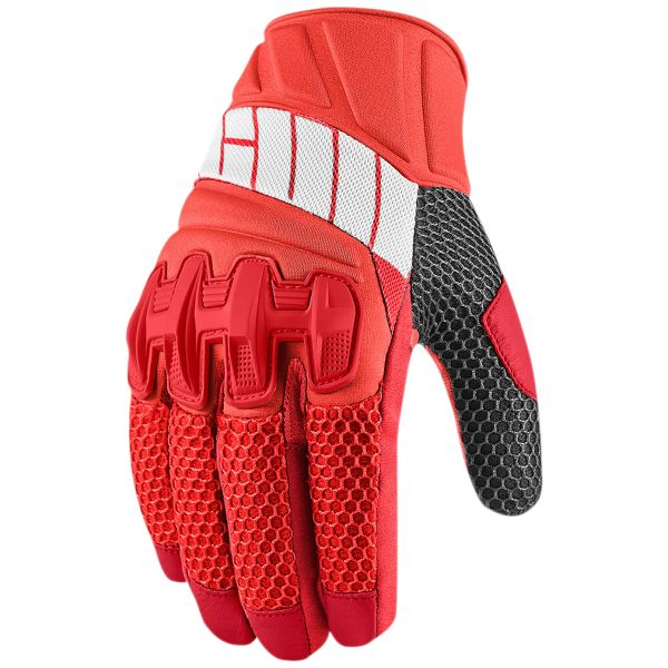 Gants Moto ICON Overlord Mesh Red