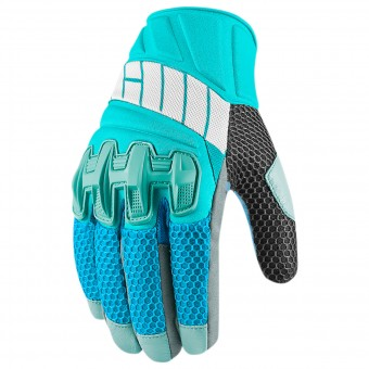 Gants Moto ICON Overlord Mesh Women Blue