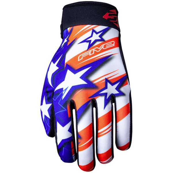 Gants Moto Five Planet Patriot USA