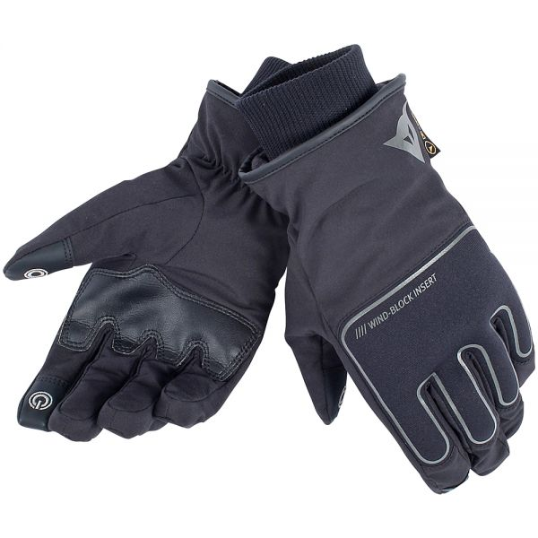 Gants Moto Dainese Plaza D-Dry Black Black