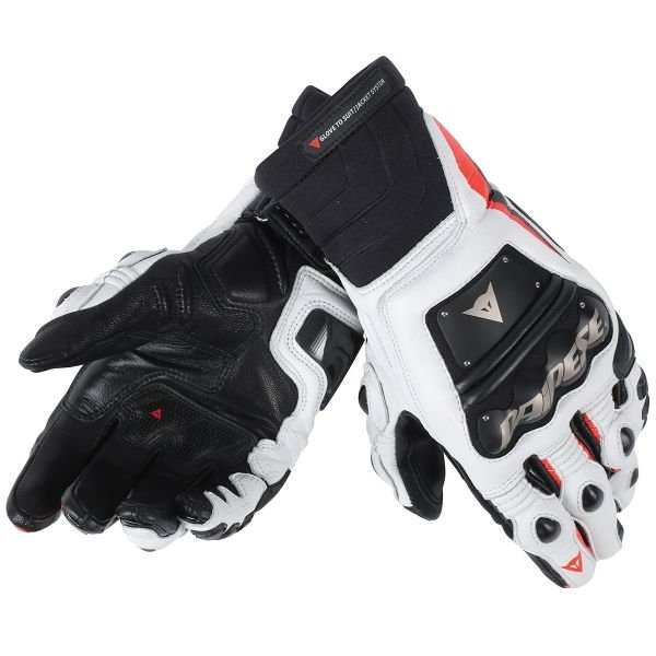 Gants Moto Dainese Race Pro In Black Red Fluo White