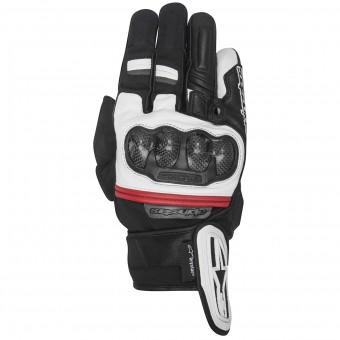gants moto alpinestars rage drystar black white red au meilleur prix. Black Bedroom Furniture Sets. Home Design Ideas