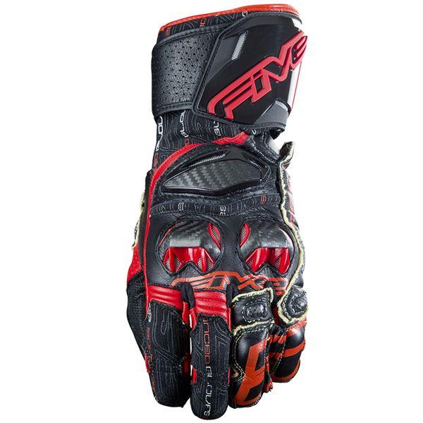 gants moto five rfx race black red en stock. Black Bedroom Furniture Sets. Home Design Ideas