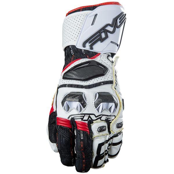 Gants Moto Five RFX Race White Red