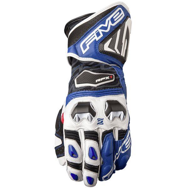 Gants Moto Five RFX1 White Blue
