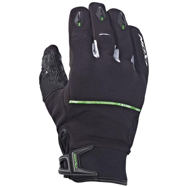 Gants Moto Ixon Rs Dry Hp Noir Blanc Vert