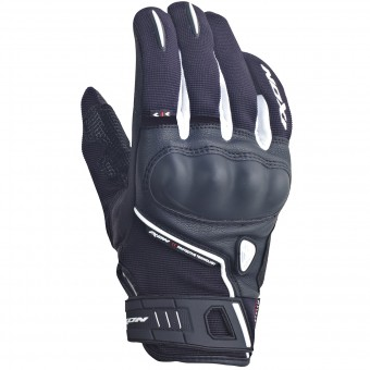 Gants Moto Ixon RS Grip Lady HP Noir Blanc