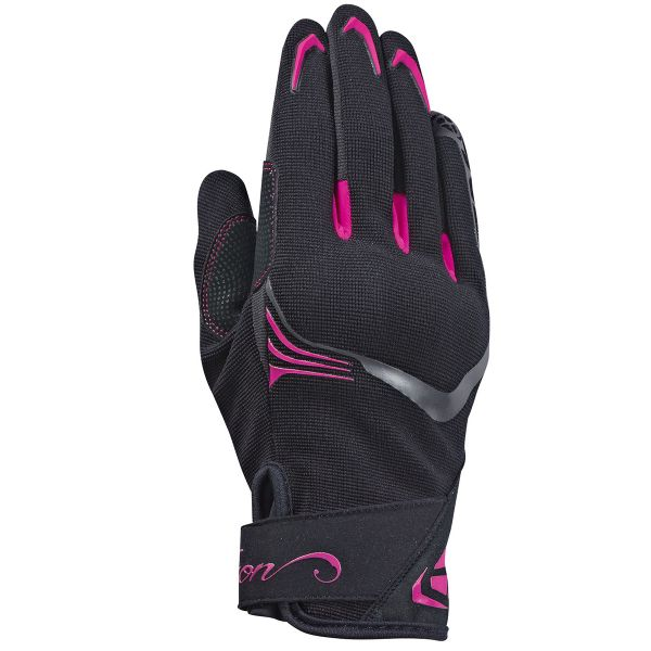 Gants Moto Ixon RS Lift Lady 2.0 Black White Fuschia