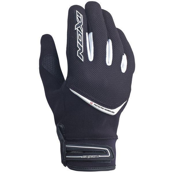 gants moto ixon rs slick hp noir blanc au meilleur prix. Black Bedroom Furniture Sets. Home Design Ideas