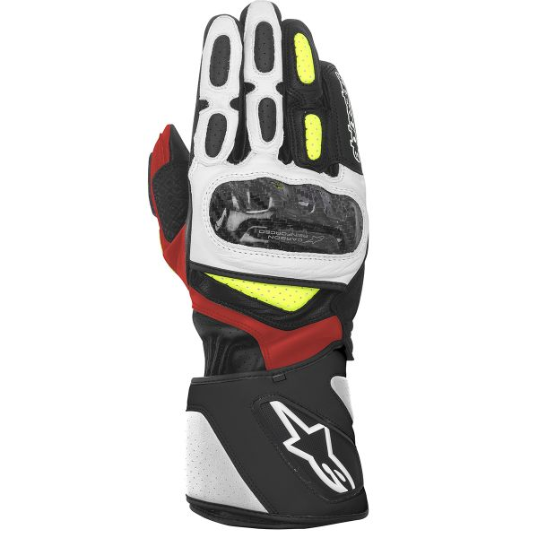 Gants Moto Alpinestars SP-2 Black White Yellow Red