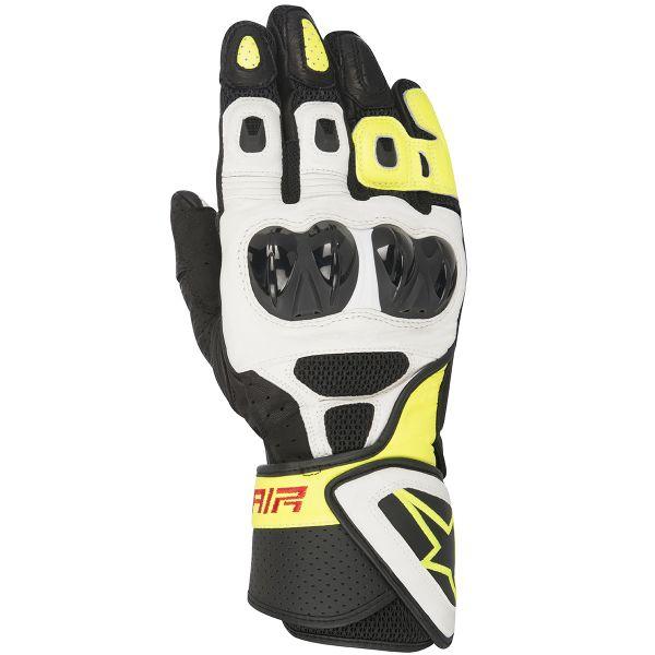 Gants Moto Alpinestars SP Air Black White Yellow Fluo