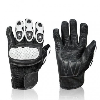 Gants Moto Darts Spy Blanc