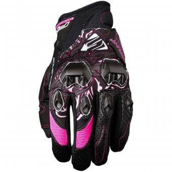 Gants Moto Five Stunt Evo Replica Woman Flower Pink