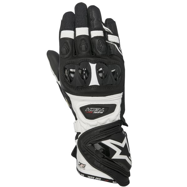 Gants Moto Alpinestars Supertech Black White