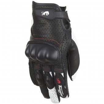 Gants Moto Furygan TD21 Lady Black White Red