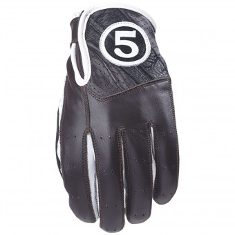 Gants Moto Five Texas Brown White