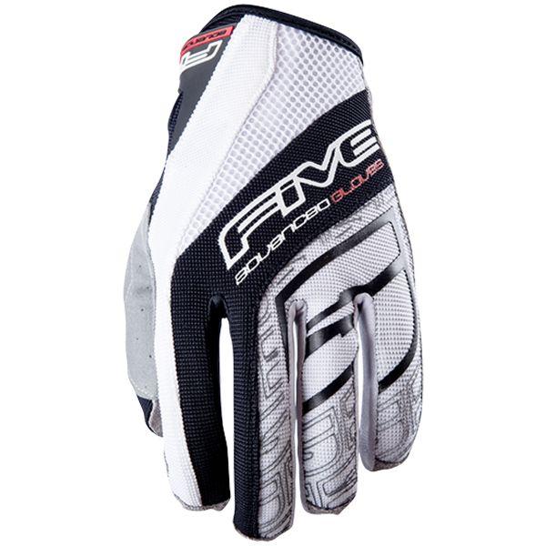 gants moto five trx black white au meilleur prix. Black Bedroom Furniture Sets. Home Design Ideas