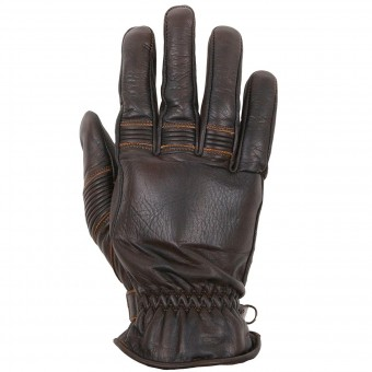 Gants Moto Helstons Velvet Summer Brown