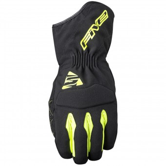 Gants Moto Five WFX3 WP Black Yellow Fluo