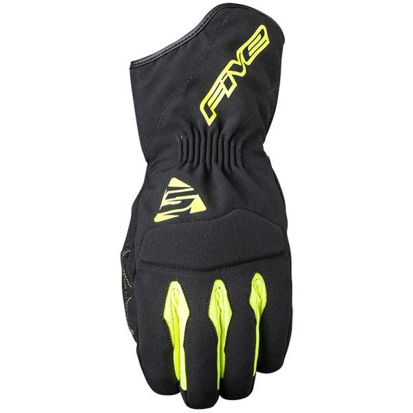 Gants Moto Five WFX3 WP Black Yellow Fluo