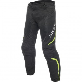 Pantalon Moto Dainese Drake Air D-Dry Black Yellow Fluo