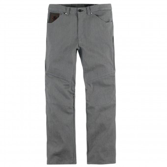 Pantalon Moto ICON Hooligan Denim Gray