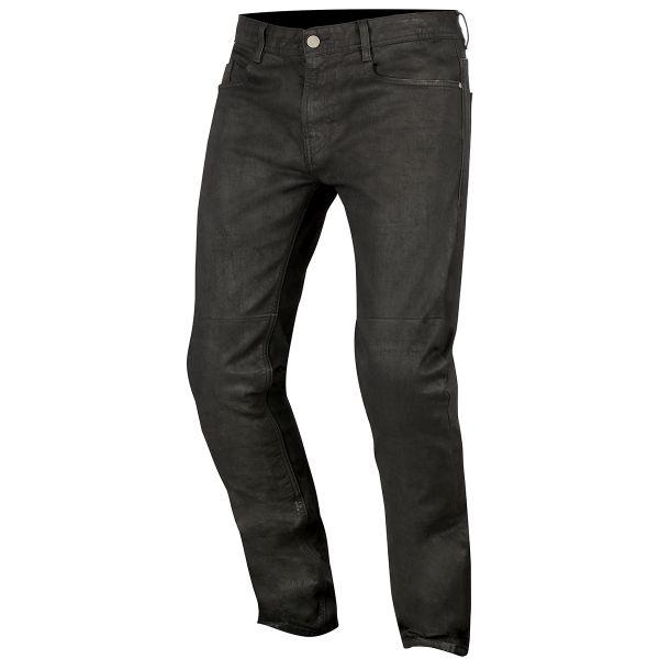 Pantalon Moto Alpinestars Double Bass Denim Greaser Black