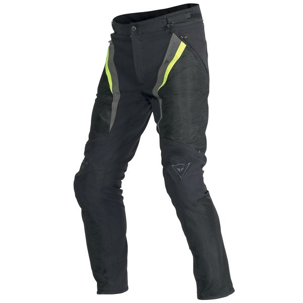 Pantalon Moto Dainese Drake Super Air Black Yellow Fluo