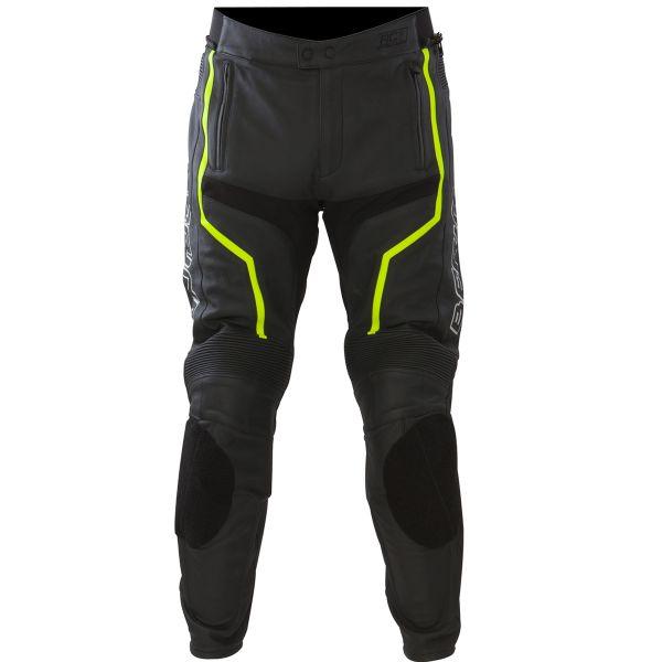 Pantalon Moto Bering Flash Pant Noir Jaune Fluo