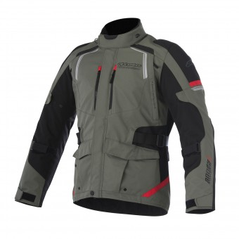 Veste Moto Alpinestars Andes V2 Drystar Military Green Black Red