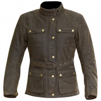 Blouson Moto Merlin Ashley Wax Lady Olive