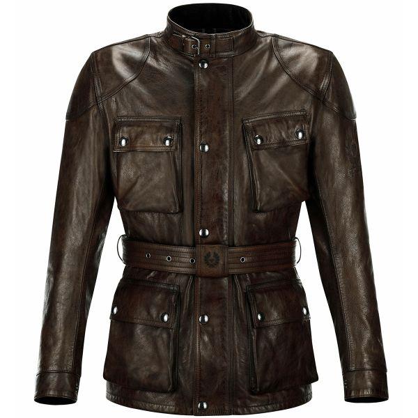 Veste Moto Belstaff Classic Trophy Leather Black Brown
