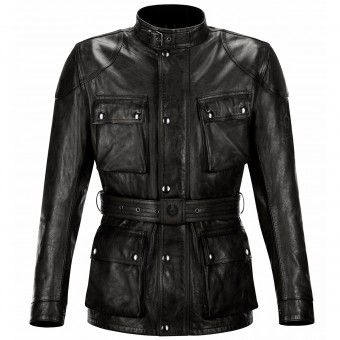 Blouson Moto Belstaff Classic Trophy Leather Black