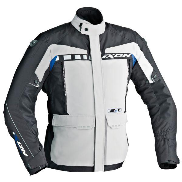 Veste Moto Ixon Corsica Gris Noir Bleu