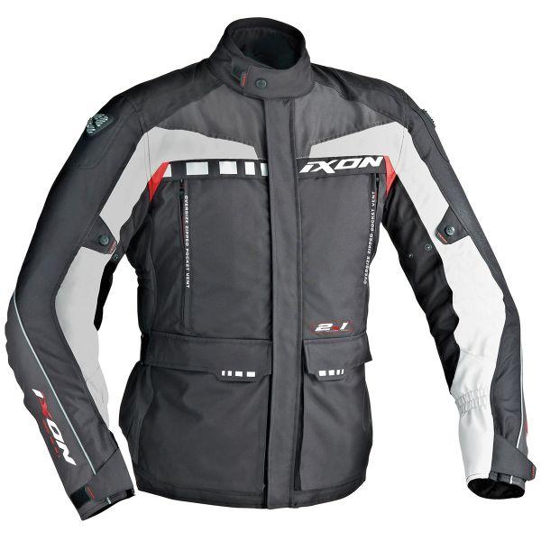 Veste Moto Ixon Corsica Noir Gris Rouge