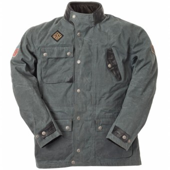 Blouson Moto Ride & Sons Escape Waxed Anthracite