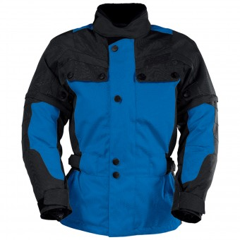Blouson Moto IXS Explorer Jacket II Black Blue Kid