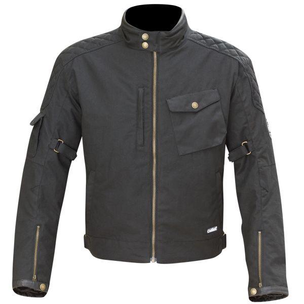 Blouson Moto Merlin Hamstall Wax Cotton Black