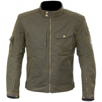 Blouson Moto Merlin Hamstall Wax Cotton Brown