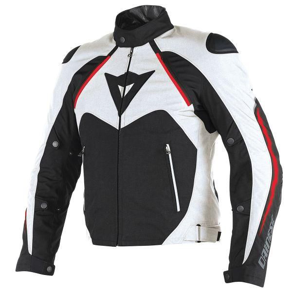 Blouson Moto Dainese Hawker D-Dry Black White Red
