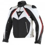 Blouson Moto Dainese Hawker D-Dry Black White Red