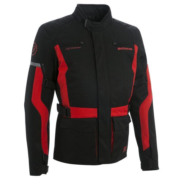 Veste Moto Bering Lucas Noir Rouge