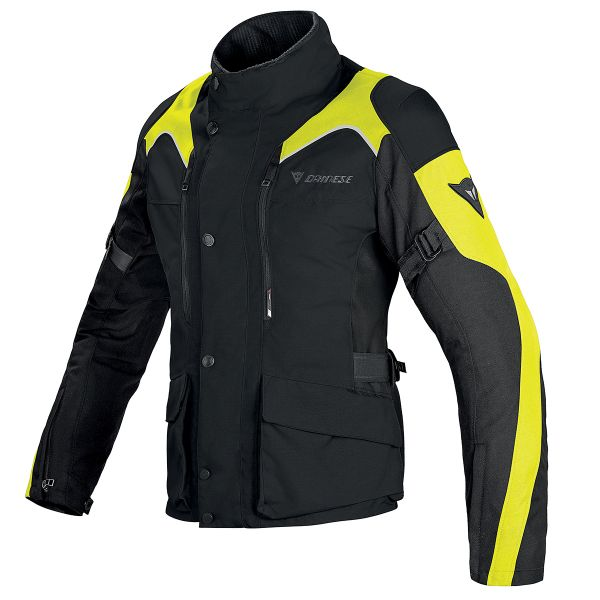 Blouson Moto Dainese Tempest Lady D-Dry Black Yellow Fluo