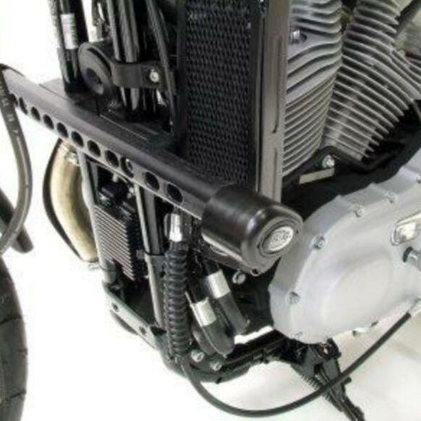 Pare-carter & tampons R&G Racing Tampons De Protection Aero Harley Davidson XR1200 (08-14)